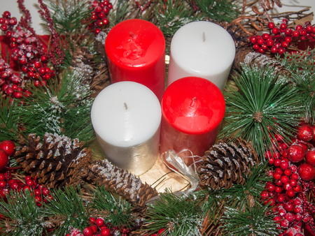 liturgical: Advent wreath is a Christian tradition that symbolizes the passage of the four weeks of Advent in the liturgical calendar of the Western church.