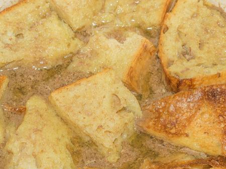 고기의: Sourdough bread soaked in meaty, savory broth