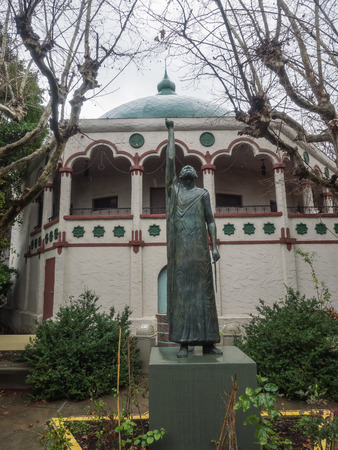 rosicrucian: Statue of Pythagoras of Samos in Rosicrucian Park in San Jose, California. Editorial