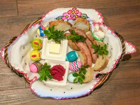 enduring: Święconka meaning the blessing of the Easter baskets, is one of the most enduring and beloved Polish traditions on Holy Saturday. The tradition of food blessing at Easter, which has early-medieval roots in Christian society, possibly originated from a