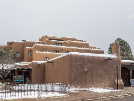 inn: Inn and Spa at Loretto is a resort with pueblo-inspired architecture in Santa Fe, NM. Editorial