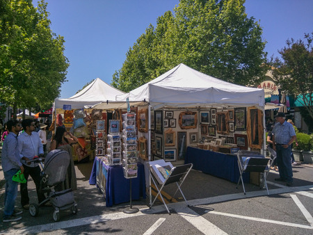 carte: MOUNTAIN VIEW CA  MAY 23: 19th Annual A La Carte  Art Festival on May 23 2015 in Mountain View.