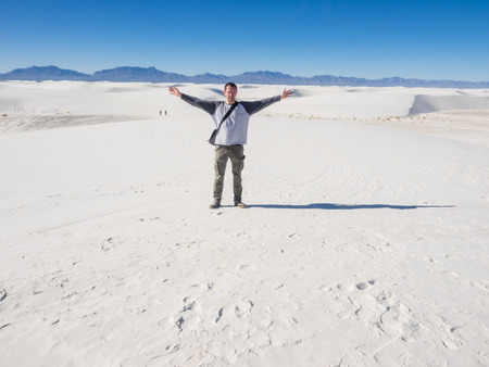 alamogordo: White Sands National Monument is a field of white sand dunes composed of gypsum crystals. It is the largest gypsum dune field in the world.