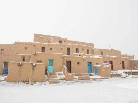 pueblo: Taos Pueblo is an ancient pueblo belonging to a Tiwa-speaking Native American tribe of Pueblo people.