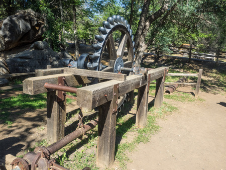 gold rush: Columbia State Historic Park is a state park preserving historic downtown Columbia, California, USA. It includes almost 30 buildings built during the California Gold Rush. Editorial
