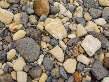 Pebbles on a shingle beach in Smugglers Cove on Santa Cruz Channel Island