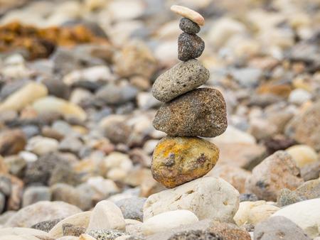 shingle beach: Pebbles on a shingle beach in Smugglers Cove on Santa Cruz Channel Island