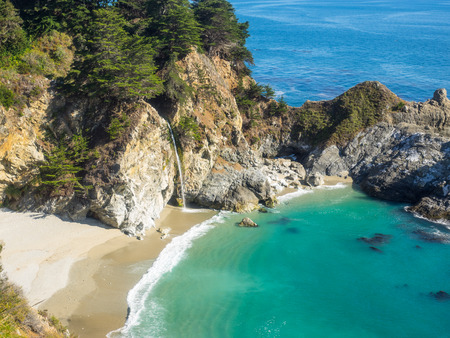 mcway: McWay Falls  waterfall located in Julia Pfeiffer Burns State Park