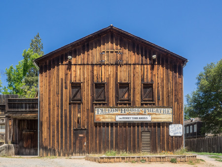 gold rush: Columbia State Historic Park is a state park preserving historic downtown Columbia, California, USA. It includes almost 30 buildings built during the California Gold Rush. Stock Photo