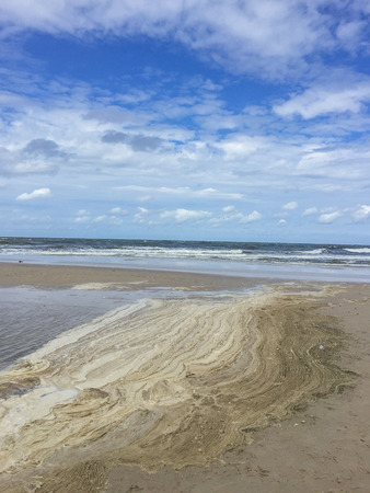 Beautiful sandy beach in Kolobrzeg, Poland