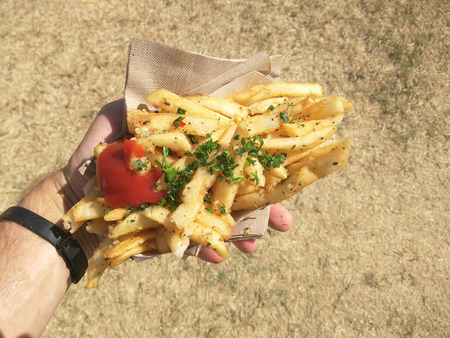 frites: Baked french fry with aromatic rosemary and fresh garlic thats incredibly crispy.