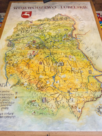 lubelskie: Map of Lublin Voivodeship located in southeastern Poland. Stock Photo