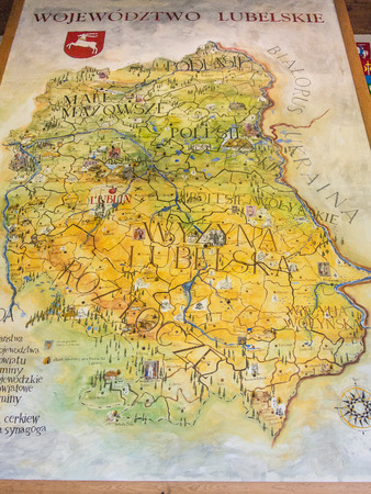 Map of Lublin Voivodeship located in southeastern Poland. Reklamní fotografie