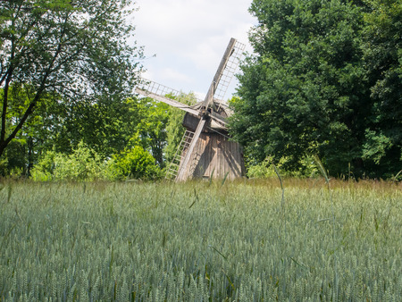 smock: Dutchman  is restored smock windmill from Zygmuntow near Pilaszkowice, Poland Editorial