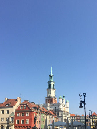 centred: Old Market Square (Stary Rynek) is the large square on which the Old Town neighbourhood is centred. Stock Photo
