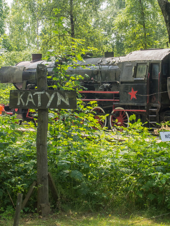 "deported: House of the Siberian Deportee.It is the reconstruction of a Soviet gulag and a locomotive with carriages. Here we commemorate the tragic fate of the Polish people deported to Siberia during the second world war in ""trains headed for nowhere"". The woo Editorial"