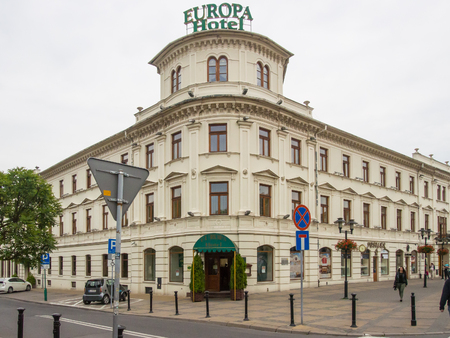 distinctive: The stylish building of the Hotel Europa is one of the most distinctive buildings in Lublin. Editorial