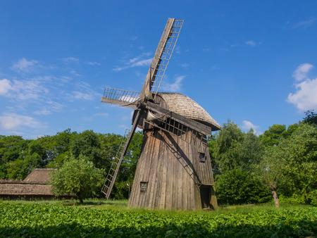 smock: Dutchman  is restored smock windmill from Zygmuntow near Pilaszkowice, Poland Stock Photo