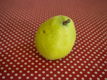 pyrus: DAnjou pear is a short-necked cultivar of European Pear (Pyrus communis) Stock Photo