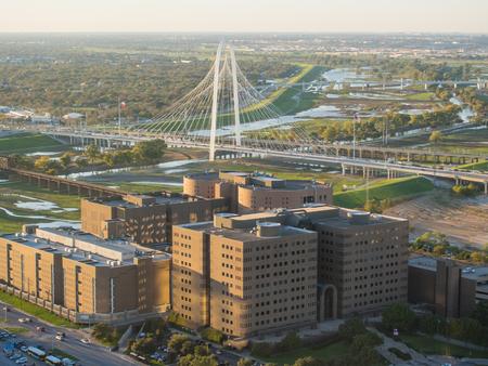 dallas: Margaret Hunt Hill Bridge is a bridge in Dallas, Texas which spans the Trinity River.
