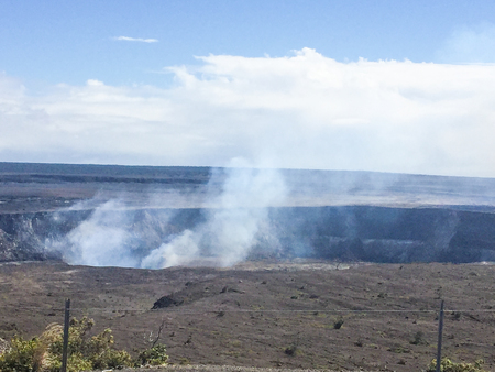 kilauea: Kilauea is a currently active shield volcano in the Hawaiian Islands, and the most active of the five volcanoes that together form the island of Hawaii.