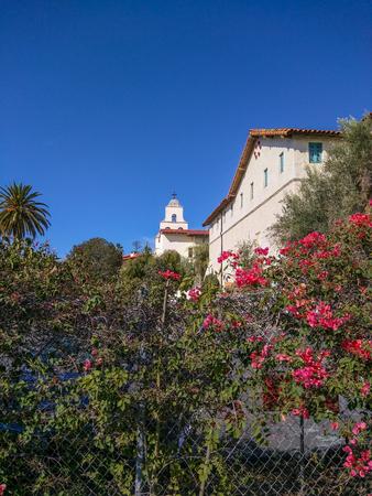 barbara: Mission Santa Barbara is a Spanish mission founded by the Franciscan order near present-day Santa Barbara, California. Stock Photo