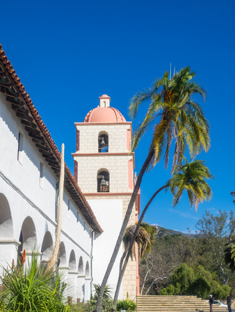 Mission Santa Barbara is a Spanish mission founded by the Franciscan order near present-day Santa Barbara, California. Stock Photo