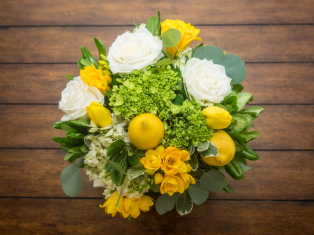 festive occasions: Fresh flowers bouquet on party table