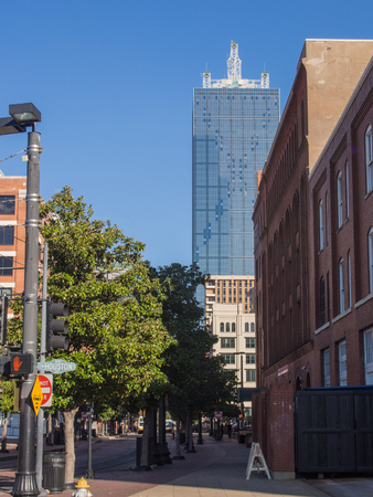 historic district: West End Historic District of Dallas, Texas, is a historic district that includes area in northwest downtown Stock Photo