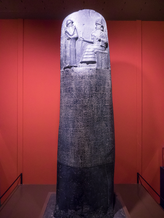 Code van Hammurabi is een goed bewaard gebleven Babylonische wetboek van het oude Mesopotamië, daterend uit ongeveer 1754 voor Christus.