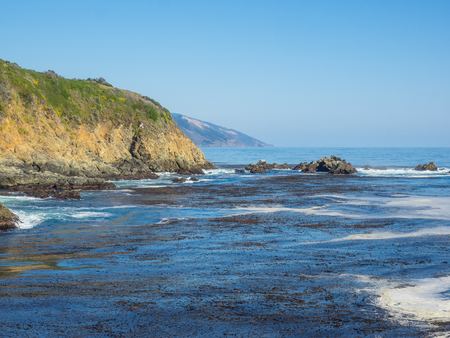 Partington Cove holds a special piece of Big Sur history. Much of the tan bark and lumber was shipped out of this cove. There is a tunnel that goes through the ridgeline that opens into a beautiful cove which still has parts of the shipping tools bolted t