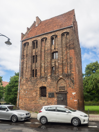 remnant: Fuse Tower, last remnant of the medieval fortification in Kolobrzeg.