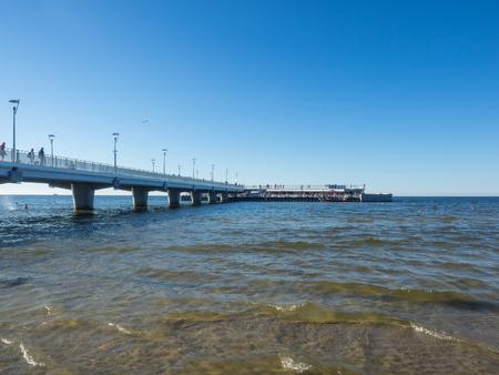 Kolobrzeg Pier is a reinforced concrete pier in Kolobrzeg, Poland