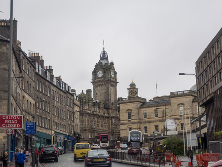 princes street: The Balmoral is a luxury five-star property and landmark in Edinburgh, Scotland. It is located in the heart of the city at the east end of Princes Street, the main shopping street beneath the Edinburgh Castle rock, and the southern edge of the New Town.