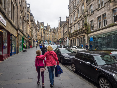 waverley: Cockburn Street is a picturesque street in Edinburghs Old Town, created as a serpentine link from the Royal Mile to Waverley Station Editorial