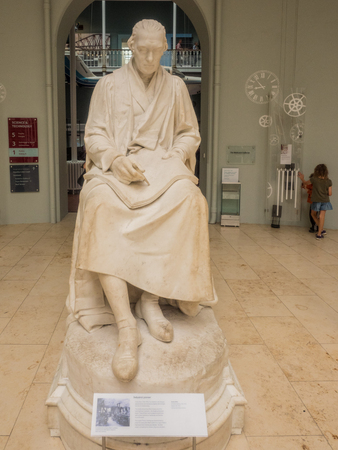 James Watt Statue at National Museums of Scotland in Edinburgh. Editorial