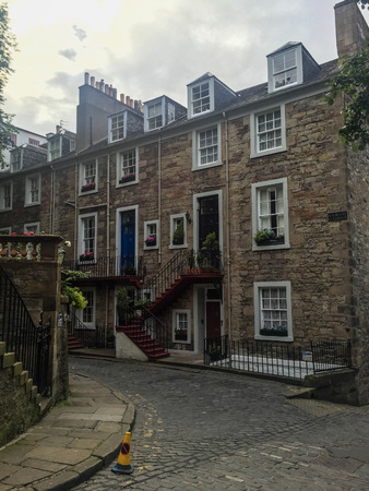 mile high city: Ramsay Lane leads south from Castlehill to Ramsay Garden, the group of houses which include Ramsay Lodge, former home of the poet Allan Ramsay.