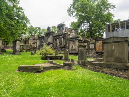 bobby: Greyfriars Kirk is a parish kirk (church) of the Church of Scotland in central Edinburgh, Scotland. Stock Photo