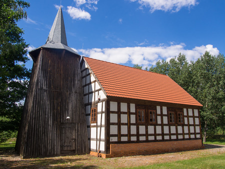 wielkopolska: Church from Laski Waleckie at the Museum of Folk Culture in Osiek Editorial