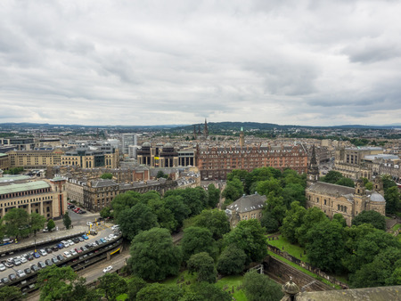 South view of the city from Upper Ward of Edinburgh Castle.