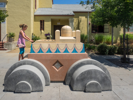 orienting: Parade of Floats is a procession of 16 sculptural �floats� recalling parades that exist in cultures throughout the world, and which are an expression of a community coming together in celebration.