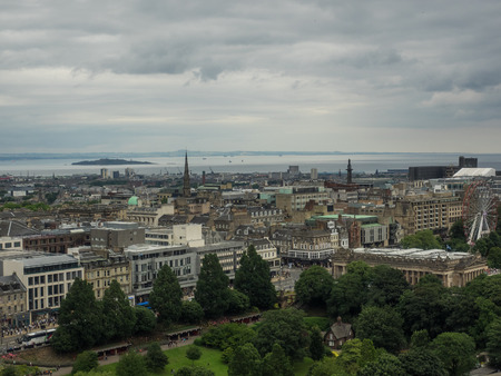 North east view of the city from Upper Ward of Edinburgh Castle.