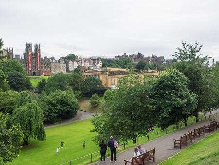 Princes Street Gardens Is A Public Park In The Centre Of Edinburgh ...