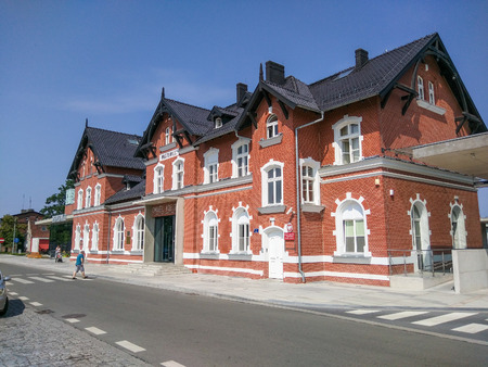 renovated: Renovated old train station in Wagrowiec, Poland