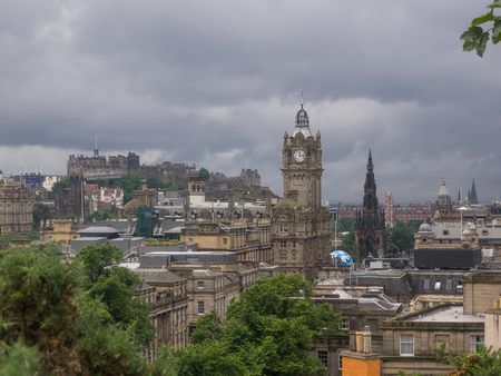 scottish culture: View of Old Town in Edinburgh from Calton Hill.