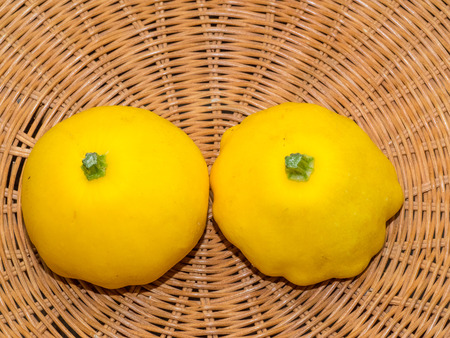 Pattypan squash is a variety of summer squash (Cucurbita pepo) notable for its small size, round and shallow shape, and scalloped edges, somewhat resembling a small toy top, or flying saucer.