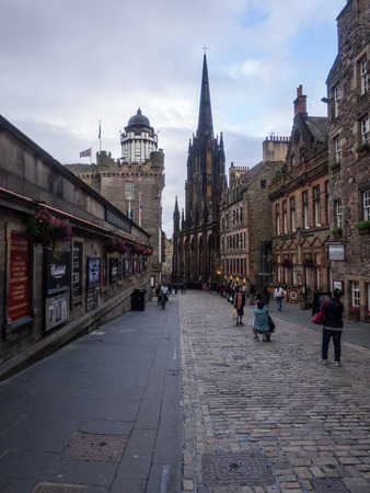 thoroughfare: Castlehill is short, steep, narrow thoroughfare forms the summit of Edinburgh's historic highway: the Royal Mile.
