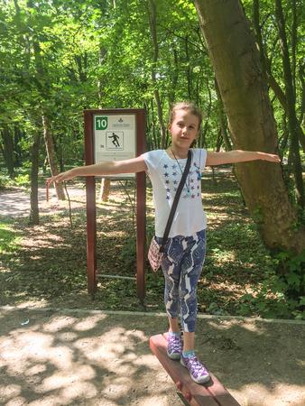 stroll: Enjoying stroll on seaside park in Kolobrzeg, Poland
