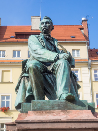 aleksander: Aleksander Fredro monument located on Wroclaw Market Square. Editorial