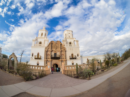 colonial church: Mission San Xavier del Bac is a historic Spanish Catholic mission located about 10 miles (16 km) south of downtown Tucson, Arizona, on the Tohono Oodham San Xavier Indian Reservation.